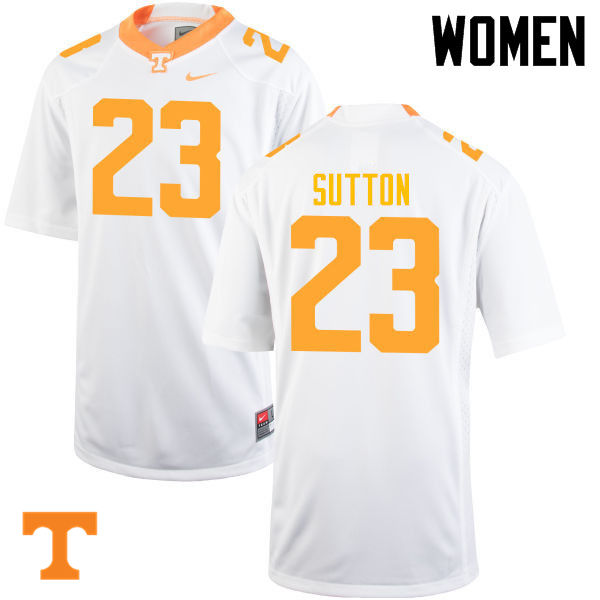 Women #23 Cameron Sutton Tennessee Volunteers College Football Jerseys-White