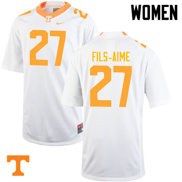 Women #27 Carlin Fils-Aime Tennessee Volunteers College Football Jerseys-White