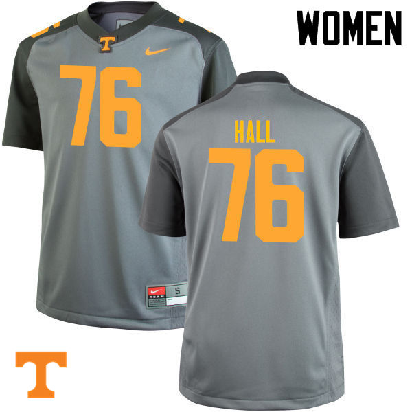 Women #76 Chance Hall Tennessee Volunteers College Football Jerseys-Gray