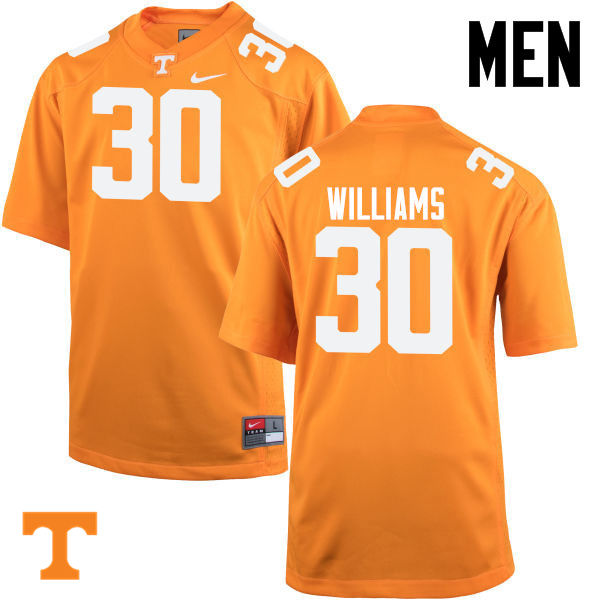 Men #30 Devin Williams Tennessee Volunteers College Football Jerseys-Orange