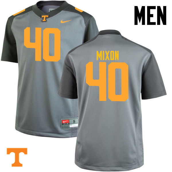 Men #40 Dimarya Mixon Tennessee Volunteers College Football Jerseys-Gray