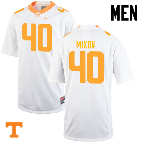 Men #40 Dimarya Mixon Tennessee Volunteers College Football Jerseys-White