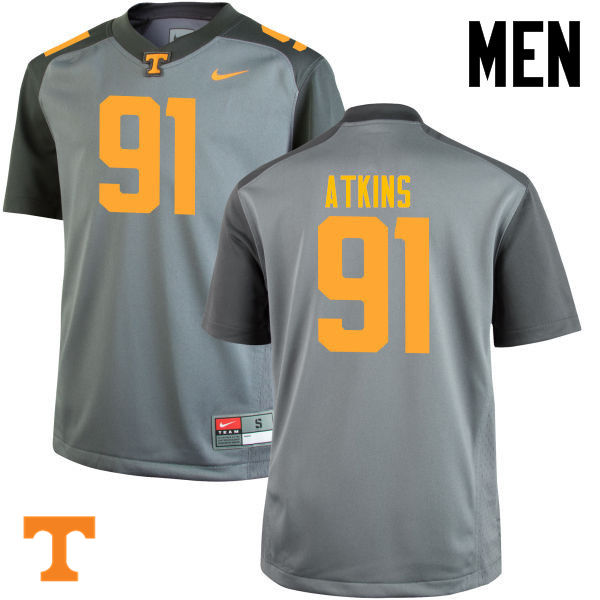 Men #91 Doug Atkins Tennessee Volunteers College Football Jerseys-Gray