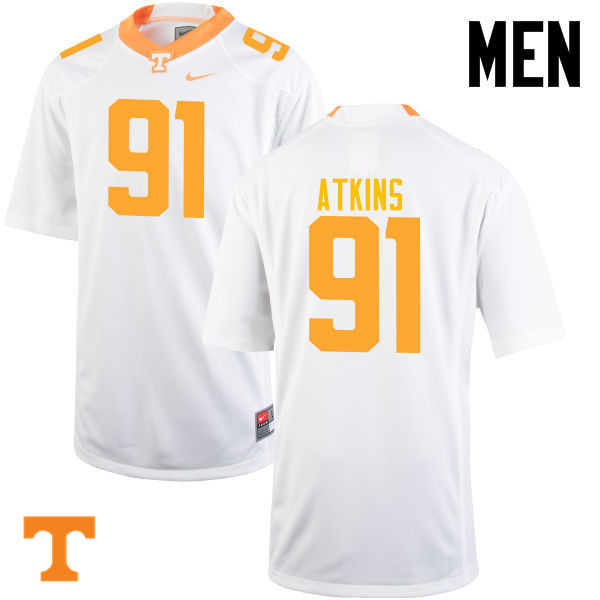 Men #91 Doug Atkins Tennessee Volunteers College Football Jerseys-White