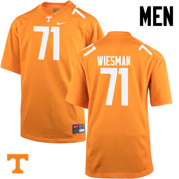 Men #71 Dylan Wiesman Tennessee Volunteers College Football Jerseys-Orange