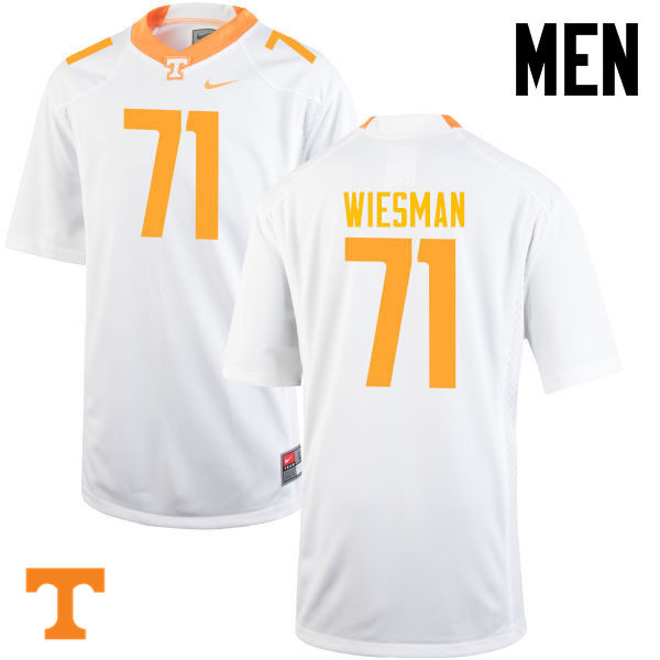 Men #71 Dylan Wiesman Tennessee Volunteers College Football Jerseys-White