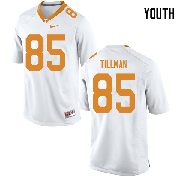Youth #85 Cedric Tillman Tennessee Volunteers College Football Jerseys Sale-White