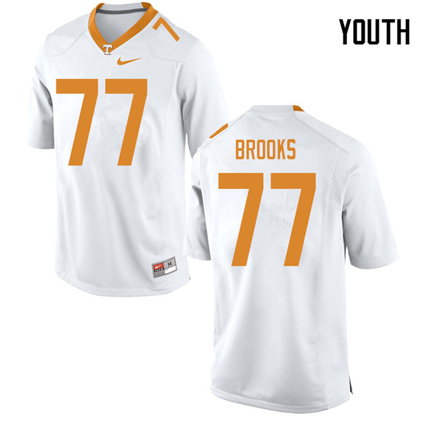 Youth #77 Devante Brooks Tennessee Volunteers College Football Jerseys Sale-White