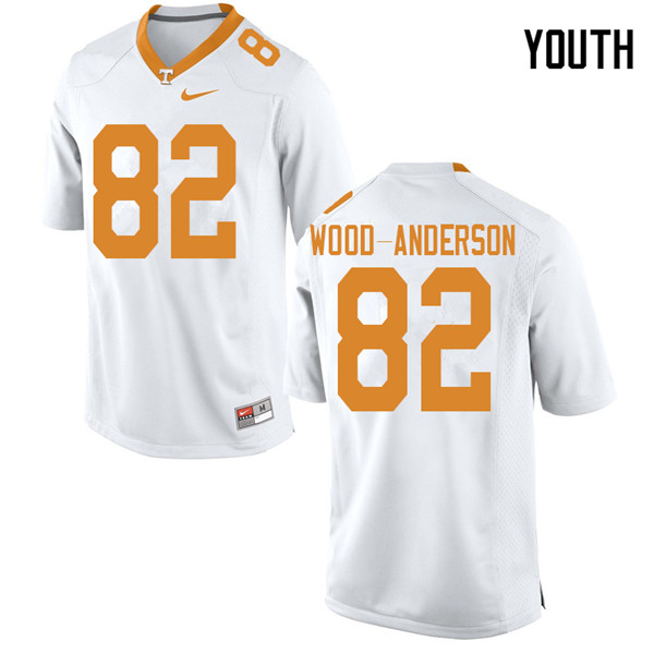 Youth #82 Dominick Wood-Anderson Tennessee Volunteers College Football Jerseys Sale-White