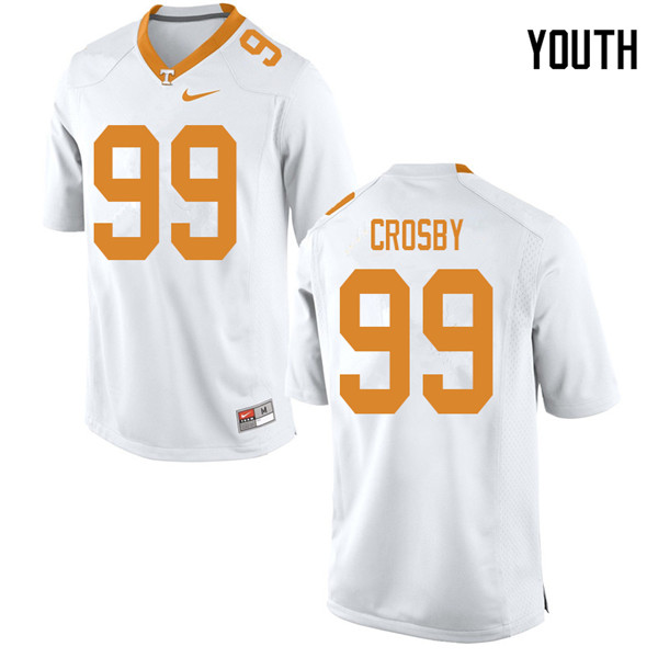Youth #99 Eric Crosby Tennessee Volunteers College Football Jerseys Sale-White