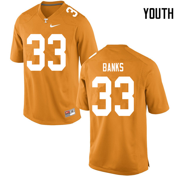 Youth #33 Jeremy Banks Tennessee Volunteers College Football Jerseys Sale-Orange