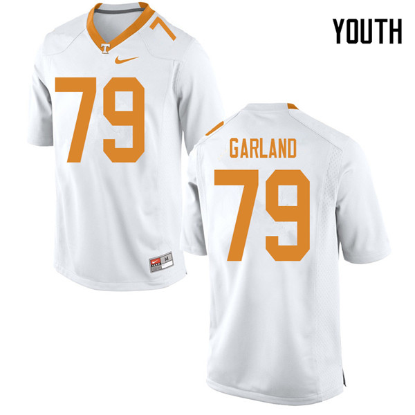 Youth #79 Kurott Garland Tennessee Volunteers College Football Jerseys Sale-White