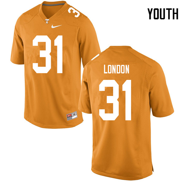 Youth #31 Madre London Tennessee Volunteers College Football Jerseys Sale-Orange