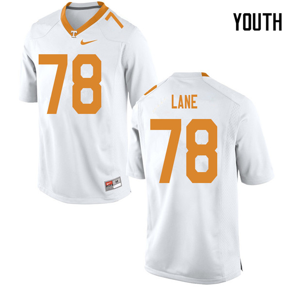 Youth #78 Ollie Lane Tennessee Volunteers College Football Jerseys Sale-White