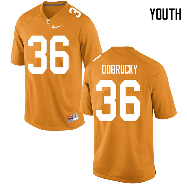 Youth #36 Tanner Dobrucky Tennessee Volunteers College Football Jerseys Sale-Orange