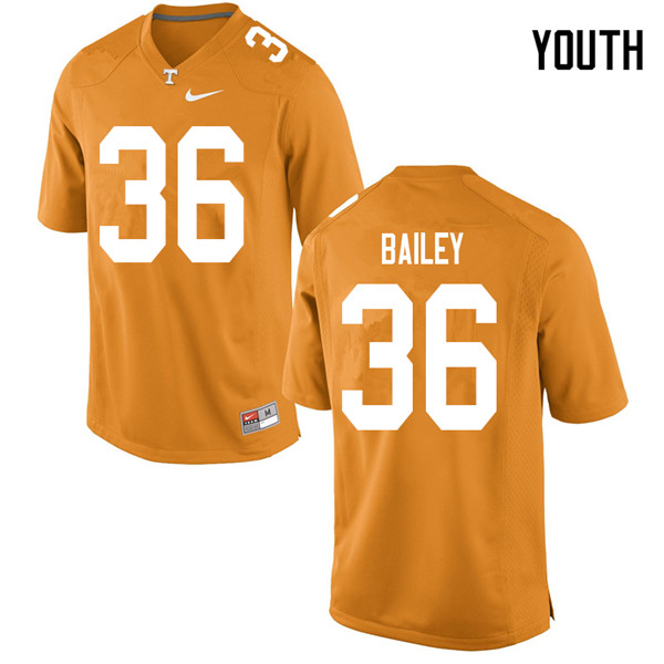 Youth #36 Terrell Bailey Tennessee Volunteers College Football Jerseys Sale-Orange
