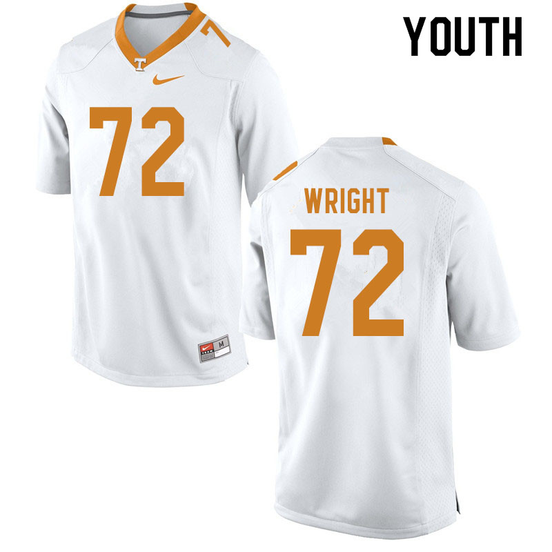 Youth #72 Darnell Wright Tennessee Volunteers College Football Jerseys Sale-White