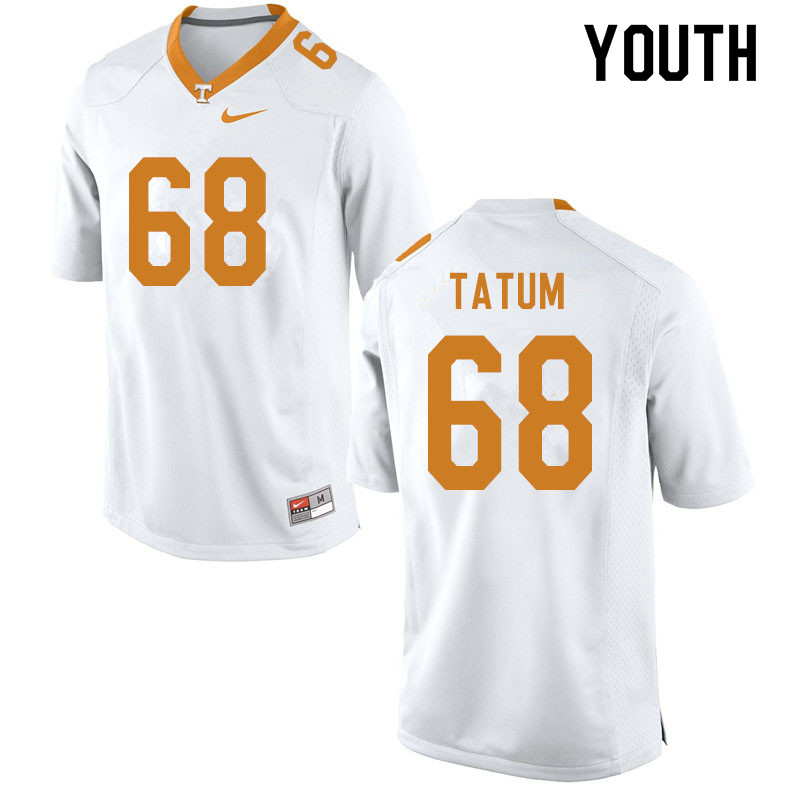 Youth #68 Marcus Tatum Tennessee Volunteers College Football Jerseys Sale-White