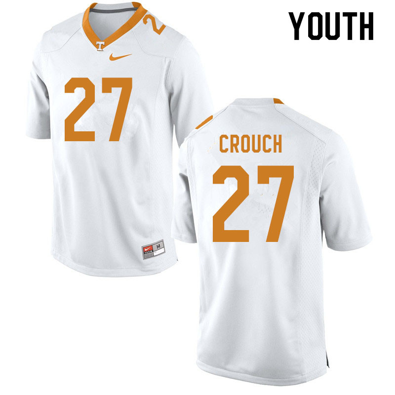 Youth #27 Quavaris Crouch Tennessee Volunteers College Football Jerseys Sale-White