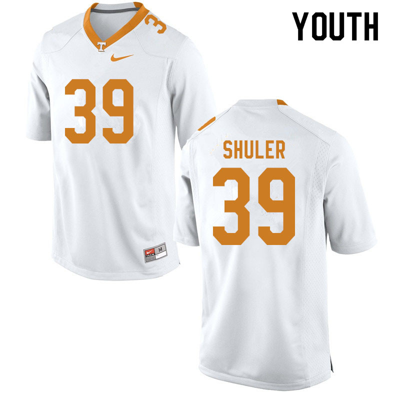 Youth #39 West Shuler Tennessee Volunteers College Football Jerseys Sale-White